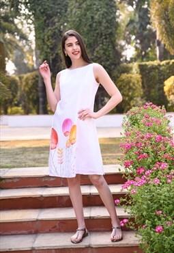 Linen Handpainted Dress