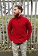 Vintage Ralph quarter zip burgundy polo jumper sweater