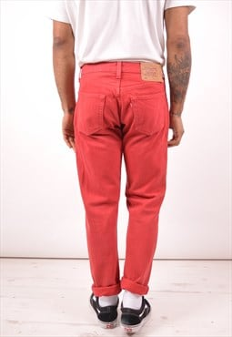 Levi's 501 Mens Vintage Jeans W32 L30 Red 90s