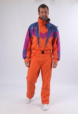 """Vintage FILA Full Ski Suit Snow Sports Small Medium 38"""" K5AB"""