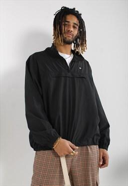 Vintage Lacoste 1/4 Zip Shell Jacket Black