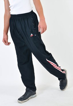 Vintage ADIDAS shell joggers in black
