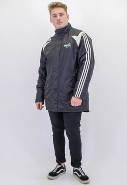 Vintage Longline Adidas Padded Coat in Black