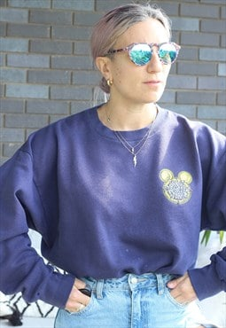 Vintage 1990s Walt Disney World Navy oversized sweatshirt