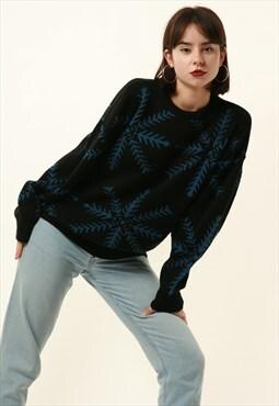90s Vintage Oldschool TORERO Snowflake Knitwear Jumper 16337