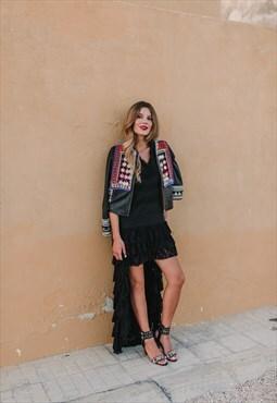Sicily Black Napa Heel Sandals