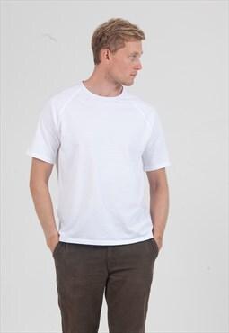 White T-Shirt with Raglan Sleeve