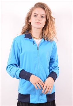 Reebok Womens Vintage Tracksuit Top Jacket Medium Blue 90s
