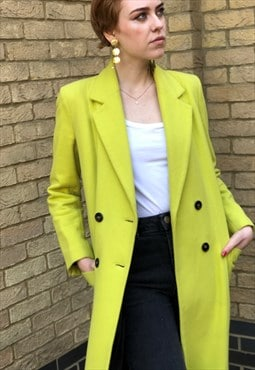 Vintage Y2K Acid Yellow Green Coat