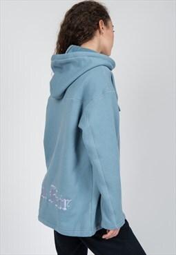 Oversized hoodie in light blue