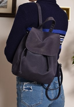 Vintage 90s Canvas Small Backpack in Navy Blue