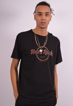 Hard Rock Cafe Mens Vintage T-Shirt Top Large Black 90s