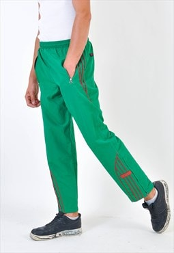 Vintage shell joggers in green