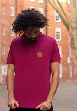 Vintage Burberrys polo shirt in a burgundy red