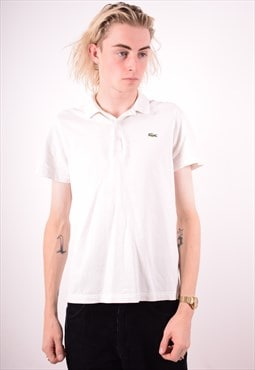 Lacoste Mens Vintage Polo Shirt XS White 90s