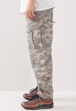Vintage Digital Camo Cargo Trousers