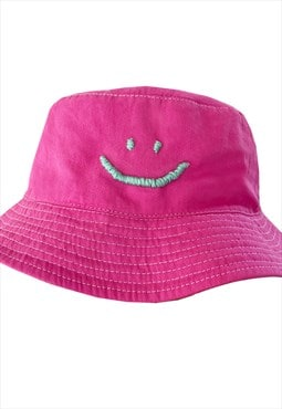 Pink Smiley Face Bucket Hate