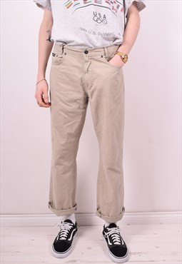 Yves Saint Laurent Mens Vintage Trousers W32 L30 Beige 90's