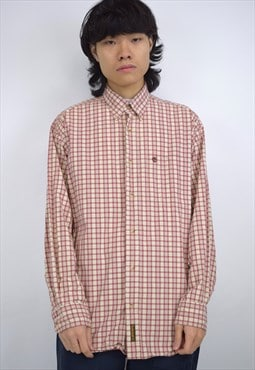 Vintage 90s Timberland Red/Cream Check Shirt