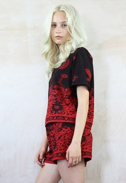 Chinese Paisley Shorts & Box Top  Co-Ordinates