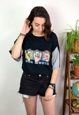 90s Vintage Taz Mania Cartoon Printed T Shirt