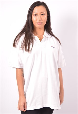 VINTAGE FILA POLO SHIRT WHITE