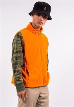 Woolrich Bright Orange Fleece Gilet Bodywarmer