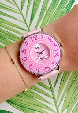 Omax Classic Pink Statement Watch