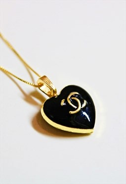 CC Heart Black Nectar Necklace