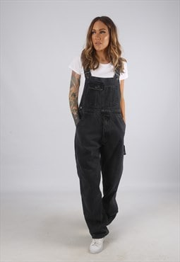Vintage Denim Dungarees NEVADA Wide Leg UK 12  (H2V)