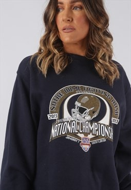 Sweatshirt Jumper Oversized FOOTBALL Print Logo UK 14 (CKHL)