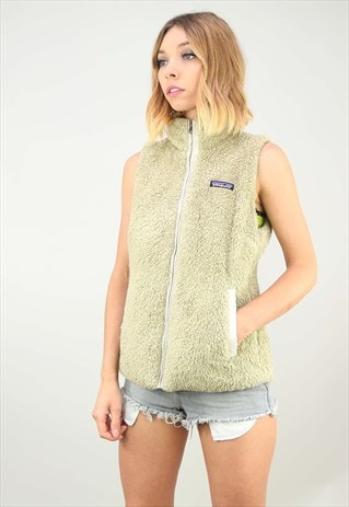 VINTAGE PATAGONIA ZIP UP GILET FLUFFY FLEECE