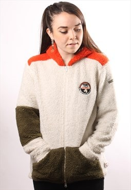 Vintage Napapijri Full Zip Sherpa Fleece