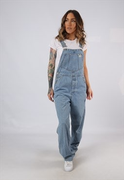 Vintage Denim Dungarees GUESS Wide Leg UK 10 Small (A5F)