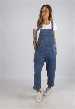 Vintage Denim Dungarees WOOLRICH 3/4 Wide Leg UK 12 (H2L)