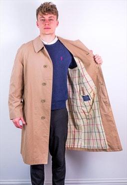 Vintage Burberry Nova Check Trench Coat Jacket in Beige