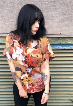 Floral Print Vintage Blouse By C&A/Your Sixth Sense