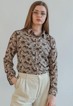 Vintage 70s hippie floral blouse