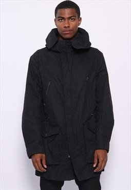 Vintage CP Company Down Lined Parka Jacket Black