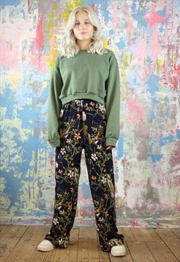 Trousers & Sweat Co-Ordinates in bird & flower print