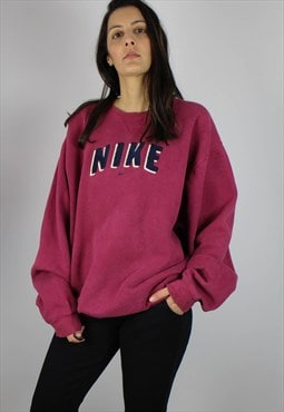 Vintage Nike Sports Sweat Top Jumper w Spell Out Logo