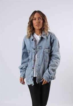 WRANGLER Denim Jacket Oversized Fitted UK 20 (G6AN)