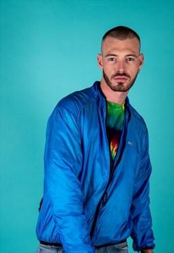 Vintage 1990s Windbreaker Jacket in Blue