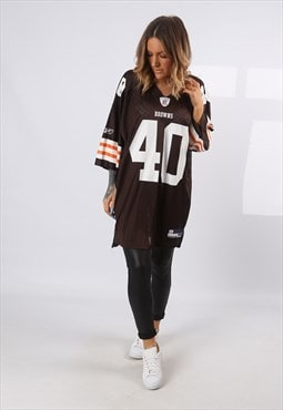 NFL Oversized T-Shirt Sport Jersey Top Football UK 18 (EQ4F)