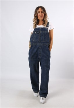 Denim Dungarees Wide Tapered Leg TALL LENGTH UK 18 (H8AC)
