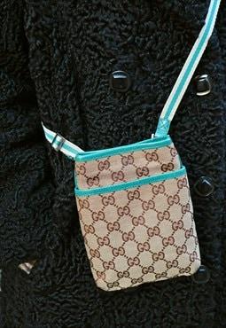 90s vintage RARE Gucci monogram mini shoulder bag