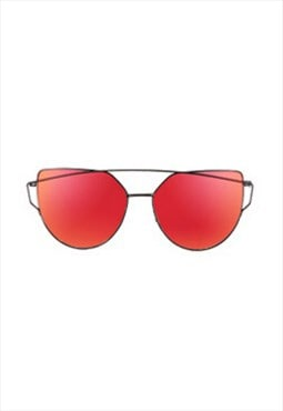 Lucy Cat Eye Sunglasses Red