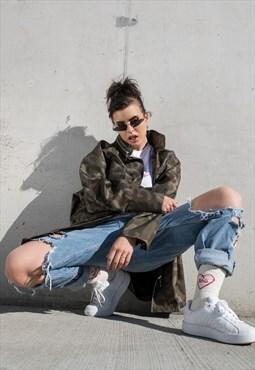 Oversize jacket / Military moro jacket