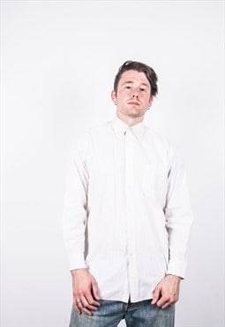 Vintage Lanvin Shirt 90s in White Stripes