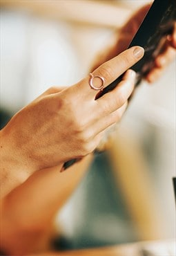 Circle Ring Rosegold